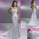 Free shipping !!One Shoulder/Satin/Mermaid/wedding dress/YY067