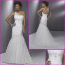 Free Shipping !One Shoulder/Mermaid/Satin&Lace/wedding dress/YY069