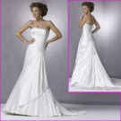 Free Shipping! 2010 New Style/Strapless/A-Line/Satin/Wedding Gowns YY070