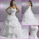 Free Shipping!2010 New Style/Maggie Sottero/Strapless/Satin&Organza/A-Line/Wedding Dress YY075