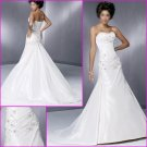 Free Shipping!Graceful Strapless/A-Line/Taffeta/Wedding Dress/YY078
