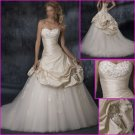 2010 New Style/Maggie Sottero/Strapless/A-Line/Taffeta&Tulle/Wedding Dress/YY083