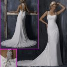 Free Shipping!2010 New Style/Maggie Sottero/Halter/Chiffon&Satin/A-Line/Wedding Dress/YY085