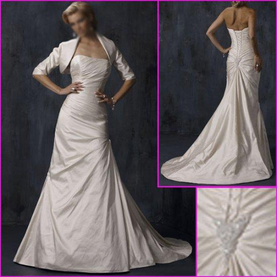 Free Shipping!!Elegnat Strapless/A-Line/Taffeta/wedding gowns/YY087