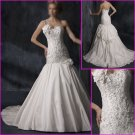 Free Shipping!!2010 New Style/One Spaghetti Strap/A-Line/wedding dress/YY095
