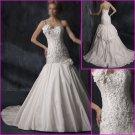 Free Shipping!!2010 New Style/One Spaghetti Strap/A-Line/wedding dress/YY095