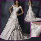 Free Shipping!!2010 New Style/Cap Sleeves/A-Line/wedding dress/YY098