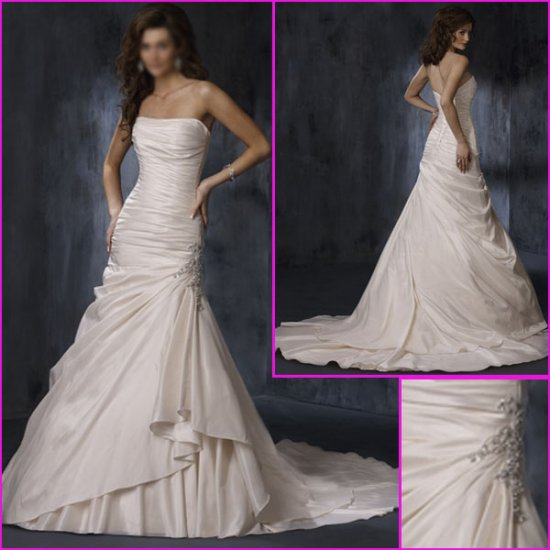 Hot selling/Strapless/Taffeta/A-Line/wedding dress/YY102