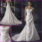 Hot selling/Elegant/Strapless/Satin/Princess/A-Line/wedding dress/YY108