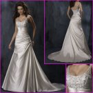 Hot selling/Elegant/Appliques/Satin/A-Line/Princess/wedding dress/YY110
