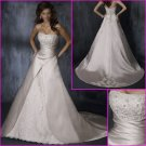 Hot selling/Satin/Strapless/Appliques/A-Line/Princess/wedding dress/YY112