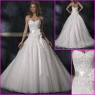 Hot Selling/Appliques/Strapless/A-Line/Princess/Satin&Organza/wedding gown/YY115