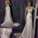 Hot Selling/Halter/Stretch Satin/A-Line/Princess/wedding gown/YY116