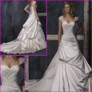 Hot Selling/Appliques/Cap Sleeves/Sweetheart Neckline/A-LIne/wedding gown/YY117