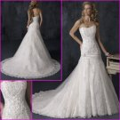 Hot Selling/strapless/appliques/Satin&Lace/A-Line/wedding gown/YY118