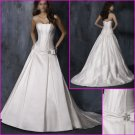 Free Shipping !Hot Selling/Succinct/strapless/A-Line/Satin/Wedding dress/YY123