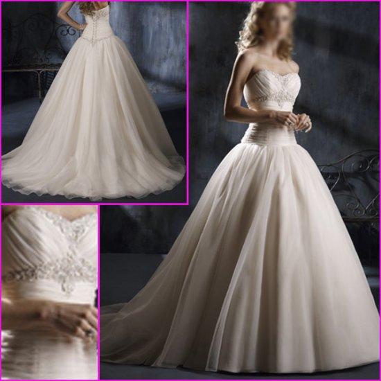 Free Shipping !Hot Selling/Elegant/Strapless/Appliques/A-Line/Princess/wedding dress/YY129