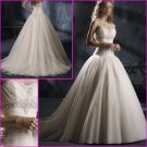 Free Shipping !Hot Selling/Elegant/Strapless/Appliques/A-Line/Princess/wedding dress/YY129