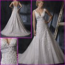 Hot Selling/Sweetheart Neckline/Spaghetti Strap/A-Line/Appliques/wedding gown/YY130