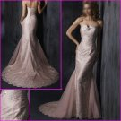 Free Shipping!Hot Selling/Strapless/A-Line/Appliques/Taffeta&Tull/wedding dress/YY132