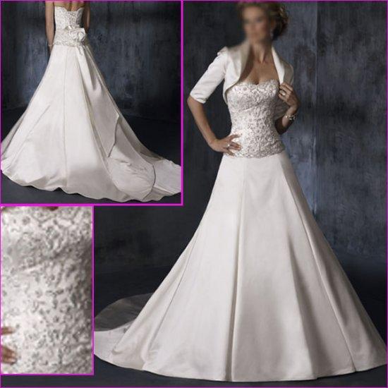 Hot Selling/Elegant/Satin/Strapless/A-Line/wedding dress/YY133