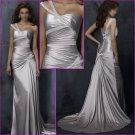 Recherche/One Spaghetti Srap/Satin/A-Line/Bridal Wedding Dress/YY135