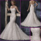 Elegant/Spaghetti Strap/Satin&Tull/Mermaid/Bridal Wedding Dress/YY136