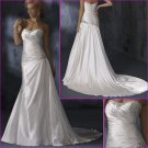 Hot selling/Strapless/A-Line/Satin/with Beading&Aplliques/wedding dress/YY137