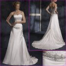Free Shipping!!Succinct/Strapless/A-Line/Satin/with Beadng/Weding Dress/YY140