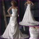 Stunning/Spaghetti Strap/Crew Neck/Satin/with Appliques/wedding dress/YY141