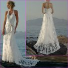 Tempting/Sweetheart Neckline/Halter/Appliques&Beadings/A-Line/Wedding Dress/YY152