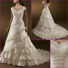 Exquisite/Sweetheart Neckline/Appliques&Beadings/Satin/A-Line/Wedding dress YY153