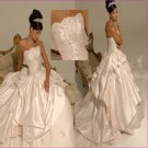 Recherche/Strapless/Taffeta/with Beadings/A-Line/wedding dress/YY154