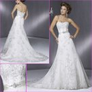 Terse/Strapless/A-Line/Appliques&Beadings/Satin&lace/wedding dress/YY155