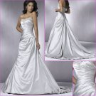 Taseful/Strapless/Appliques&Beadings/Satin A-Line/wedding dress/YY158