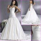 Graceful/Cap Sleeves/Appliques&Beadings/Satin&Taffeta/A-Line/Princess Wedding Dress/YY163