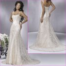 Acctractive/Spaghetti Strap/Satin&Lace/A-Line/Weding Gown/YY164