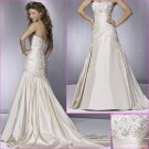 Customer made/Elegant/Strapless/Satin/A-Line/wedding dress/YY166