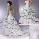 Customer made/Recherche/Taffeta&Lace/Strapless/A-Line/wedding dress/YY167