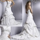 Graceful/Strapless/Taffeta/Appliques&Beadings/A-Line/Wedding Dress/YY170