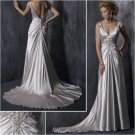 Acctractive/Spaghetti Strap/Sweetheart Neckline/Satin/A-Line/wedding dress/YY172