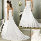 Graceful/Strapless/appliques&beadings/Satin/A-Line/Wedding Dress/YY174