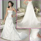 Elegant/Strapless/Satin/with Appliques&Beading/A-Line/Wedding Dress/YY175