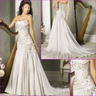 New Desgin/Elegant/Strapless/Satin with Beading/A-Line/wedding dress YY176