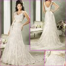 Elegant/Sweetheart Neckline/Satin&Lace/A-Line/Floor-Length/wedding dress/YY178