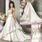 Graceful/Strapless/Appliques/Floor Length/A-Line/wedding dress/YY180