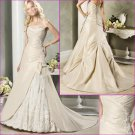 Elegant/Strapless/Taffeta/Appliques&Beadings/Floor Length/A-Line/Princess/Wedding Dress YY181