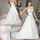 Free Shipping!!Exquisite/Strapless/Embroidery&Beadings/A-Line/Princess/Wedding Dress/YY183