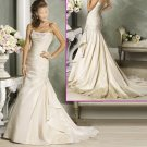 Elegant/Strapless/Taffeta /Appliques&Beadings/A-Line/Princess/Wedding Dress/YY186