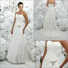 Free Shipping!! Elegant/Strapless/A-Line/Princess/Floor-length/Wedding Dress/YY189